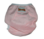 One Size Fit All- Nappy Cover MINKY - BABY PINK