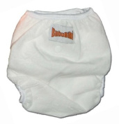 One Size Fit All- Nappy Covers Minky - WHITE