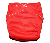 "Bamboo ORIGINAL SOLID Pocket Snaps Cloth Nappy/ Nappy with Hip Snaps with 2.5cm sert - One Size - RED by ""BubuBibi"""