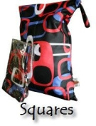 PUL Reusable/ Washable Baby Cloth Nappy/ Nappy Swim or Wet Bag - SQUARES