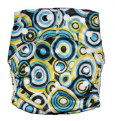 Bamboo Pocket Snaps Cloth Nappy/ Nappy - OS - CIRCLES PRINT