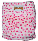 "MINKY Bamboo Pocket Applix hook and loop Cloth Nappy/ Nappy with 2.5cm sert - One Size - PINKDOTS by ""BubuBibi"""
