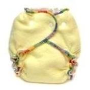 Kissa's Cotton Fleece Fitted Nappy - Lemon Yellow - M/L