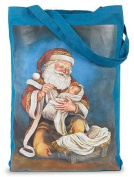 Adoring Kneeling Santa Infant Baby Bag Jesus Nativity Large 45.7cm Tote Purse