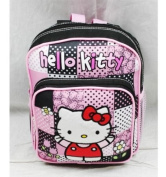 Sanrio Hello Kitty Mini Backpack with zip closer [Black/Pink] 20.3cm L x 25.4cm H x 8.9cm D