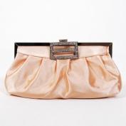 Classic Shoulder Clutch Bag Handbag Tote Apricot