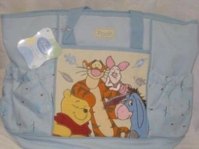 Disney Baby Large Nappy Bag Pooh Colour Blue