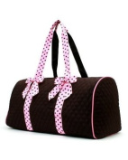 Quality Quilted Microfiber Large Duffle Bag