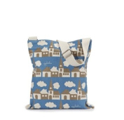 Apple & Bee Kids Library/Book Bag - Blue Town