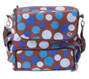 WhodaThought Mrs. Smith's Tempo Nappy Bag, Blue Polka Dot