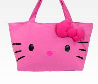 Hello Kitty Pink Face Tote Bag Large