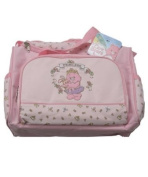 CARE BEARS nappy BAG 2 PIECE SET WITH CHANGING PAD NEW LARGE PINK