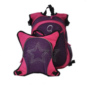 O7.6cm nsbruck Nappy Bag Backpack with Detachable Cooler, Rhinestone Star
