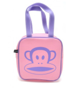 Paul Frank Julius Core Jelly Square Satchel Tote Bag - Pink / Lilac