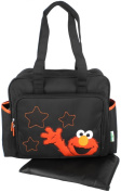 Sesame Street Elmo Stars Large Tote Shoulder Baby Nappy Bag + Changing Pad