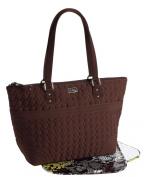 Vera Bradley Microfiber Collection - Baby Bag in Espresso Brown