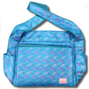 Blue Waves Silk Boutique Nappy Bag