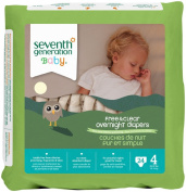 Seventh Generation Baby Overnight Nappies Stage 4 -- 24 Nappies