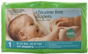 Seventh Generation Chlorine Free Nappies Stage 1 -- 44 Nappies