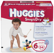 Huggies Snug and Dry Nappies, Size 6, Big Pack, 54 Count