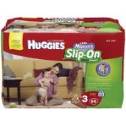 Huggies Little Movers Slip-On Nappies Big Pack - Size 3 66ct.