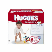 Huggies Snug and Dry Nappies Economy Plus, Size 6, 140 Count