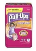 HUGGIES PULLUPS L/D GIRL 4T-5T , 21332 JUMBO LRN DESGN 38+LBS