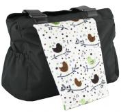Lili's Bebe Pad - Brown/Sage Birds