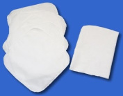 NuAngel 100% cotton flannel Washable Baby Wipes (6) & Mitt (1)- Made in USA