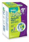 Kandoo Flushable Biodegradable Potty Training and Kids Cleansing Wet Wipes with Moisturising Lotion Refills, Magic Melon Scent, 250 Count