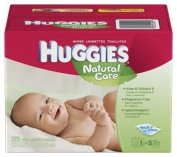 Huggies Natural Care Wipes, Fragrance Free, 360 ct.