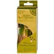 Green Sprouts, Silicone Feeding Bottle, Stage 1/2, 6 oz