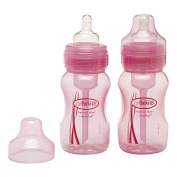 Dr Brown's Natural Flow PINK 240ml Bottles Twinpack [Special Edition]