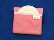 NuAngel Flip and Go Nursing Pad Case - Pink - Made in U.S.A.