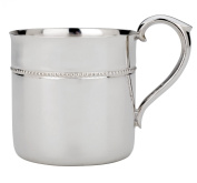 Reed & Barton Silver Plate Beaded Baby Cup