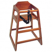 Adcraft Mahogany Hardwood High Chair