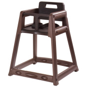 Central Specialties Brown Plastic 71.1cm High Chair w/ Black Seat