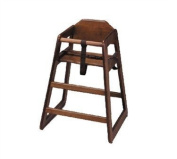 Tablecraft Unassembled Walnut Finish Hardwood High Chair