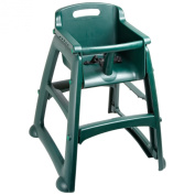 Rubbermaid Commercial FG781408 Dark Green Sturdy Chair Youth Seat without Wheels, 59.7cm Length, 59.7cm Width, 75.6cm Height