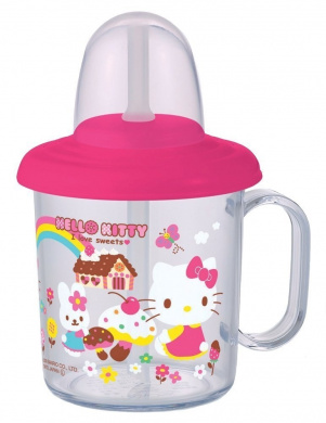Sanrio Hello Kitty Baby Toddler Kids Straw Cup Mug 210 ml / Made in Japan