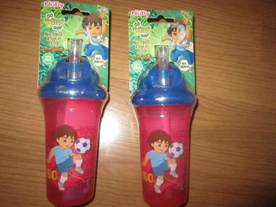 Nuby Go Diego Go!TM No-Spill Flip-it Cup - 270ml