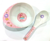 Sanrio My Melody Small Melamine Toddler Soup Bowl with Soup Spoon