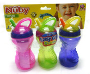 Nuby Flip-it Easy Grip Straw Cup - Pack of 3 300ml Cups