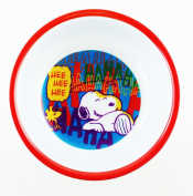 Laughing Snoopy Plastic Bowl - Peanuts Dinnerware