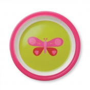 Crocodile Creek Pink Butterfly Plate