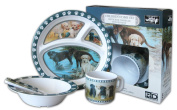 Wild Wings Children's 5-Piece Melamine Tableware Set Featuring Labs