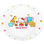 [Hello Kitty] made of melamine plate lunch Hello Kitty children's tableware series