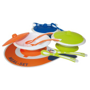 Mebby Meal Set Plate Plus Spoon and Fork