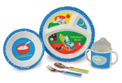 Kids Preferred 5 Piece Goodnight Moon Melamine Mealtime Set