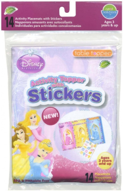 Neat Solutions Activity Table Topper with Stickers - Disney Princess - 14 ct